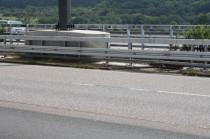 Absicherung Schilderbrücken, Super Rail, Autobahnbau