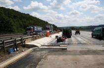 Schutzplanken im Rahmen von Baumaßnahmen, Talbrücke, Super Rail BW