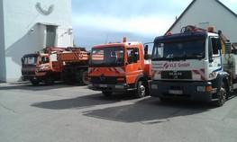 Autobahnbaustelle, Montagekolonne, VLE Traffic&Solution GmbH
